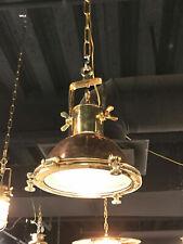 nautical new marine brass & copper ship cargo hanging spot light 1 piece