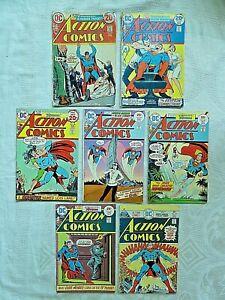 Action Comics Lot of 7, DC Comics: #423-450, 1973-75. Ungraded