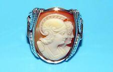 INCREDIBLE ATHENA MINERVA MYTHOLOGY GREEK GODDESS STERLING SILVER CAMEO RING