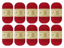 """10-pack Set """"Berry"""" Worsted Bamboo Cotton Yarn Skein - Premium Quality"""