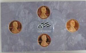 2009 Lincoln Bicentennial Penny 4 Coin GEM Proof Set. No Box No COA.
