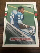 1989 Topps Traded Barry Sanders #83T Nm-Mt Centered! Beautiful And Near Mint