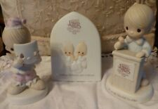 Precious Moments - 3 Collectors Club pieces - Plaque, Call to Order, Happy Face