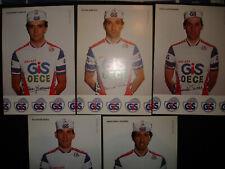 cyclisme cartes  GIS OECE 1986 MASCIARELLI.GIOVANETTI.POLINI.POZZI.SALVADOR