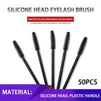 50x Makeup Rotate Eyelash Brow Oblique Design Brush Disposable Cosmetic Tools JT