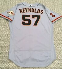 MATT REYNOLDS size 50 #57 2016 SAN FRANCISCO GIANTS GAME USED JERSEY ROAD MLB