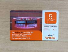 RICARICA TELEFONICA WIND - NOI WIND SMS - AVRAI 4000 SMS GRATIS - 2011 - 5 EURO