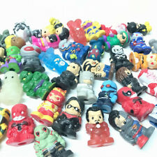 Random 30X Ooshies DC Comics/Marvel Pencil Toppers Two face Venom Figure Toy Gif