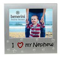"I Love My Nephew Photo Picture Frame Christmas Birthday Present Gift 5"" x 3.5"""