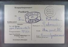 Camp Oflag IID Grossborn 1943 POW Prisoner of War Kriegsgefangenenpost (K17c)