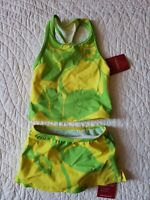 NEW! LANDS' END Girl Top SZ/2T & Skirt SZ/3T 2-PC Swim Set UV Sun Protection NWT