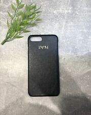 Black Pu Leather Apple iPhone 7/8 phone case Personalised With Name Or initials