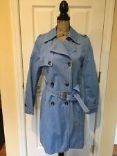 Michael Kors Women's Double Breasted Blue Trench Coat Jacket Medium EUC