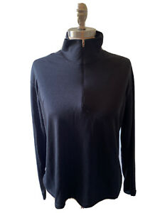 Patagonia Capilene Women's Large Black 1/4 Zip Long Sleeve Baselayer Made in USA