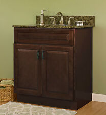 """Jsi Quincy 36"""" Two Door Solid Maple Frame Espresso Finish Vanity - Cabinet Only"""