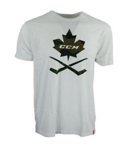 CCM Hockey Adult/Senior Camo SS T-Shirt -White T6161