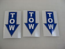 3 TOW BLUE Decal Stickers to Fit: Airplane Race Boat Drag Car Street Racer Drift