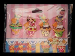 Disney DLRP Cupcakes 4 Pin Booster Set - Stitch Minnie Tinker Bell & Angel Pins