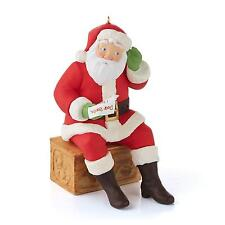 Hallmark Magic Ornament 2013 Tell Santa - Sound Activated - #QXG1542