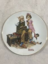 New ListingVintage Norman Rockwell Collectors The Cobbler Hanging Plate 1982