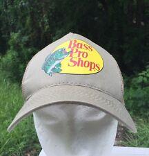 Bass Pro Shops Tan Trucker Mesh Adjustable Adult Hat Cap Fish Fishing