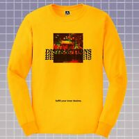 Distractions Long Sleeve T-shirt Lust Dance Retro Tee Pleasure Hipster Indie Top