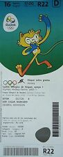 TICKET M 16.8.2016 Olympia Rio Hockey Men's Belgien - Niederlande # R22