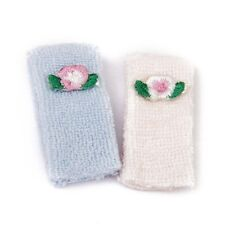 1/12 Bath towel Doll house Miniature Towels 2 Pieces Pink and Blue R9T3 M5H2