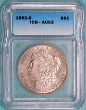 1892-S AU-53 Morgan Silver Dollar Almost Uncirculated