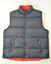 New Polo Ralph Lauren Men's Reversible Quilted Puffer Down Vest Jacket