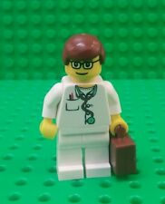 *NEW* Lego Hospital Doctor Medical Figure Brown Suitcase Stethoscope Fig x 1
