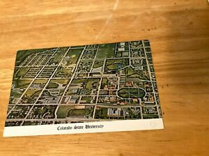 CO Fort Collins COLORADO STATE UNIVERSITY Aerial View  postcard