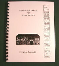JRC NRD-525 Instruction Manual - Premium Card Stock Covers & 28lb Paper!