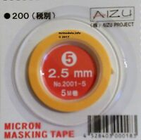 Micron Masking Tape for Curves Bends Low Tack Low Residue New Sizes Aizu Project