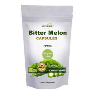 Bitter Melon Capsules 60 Capsules High Strength Organic - Blood sugar Wellness