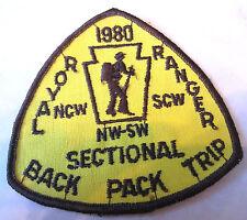 1980 Nw Sectional Back Pack Trip Gauze Back Rr Royal Ranger Uniform Patch