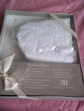 Elegant Baby Embroidered Lace White Cotton Heirloom Bonnet Hat ~NEW IN BOX
