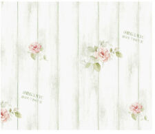 White Wash Wood Rose Shabby Green Self Adhesive Vinyl Wallpaper Contact Paper