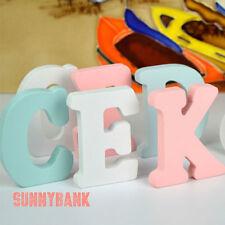 5cm White / Pink / Blue Wooden Letters Wood Letter A-Z Alphabet Home Decor