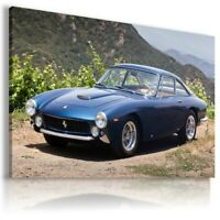 FERRARI 250 GTO BLUE Cars Large Wall Canvas Picture ART AU405 UNFRAMED-ROLLED