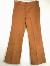 Levis 646 Mens Vintage Bell Bottom Denim Pants Teak Colored 1970s Sz 34x31 Mint