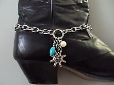 """Boot bracelet spur with beads 16"""" adjustable 1pair DAD-678"""