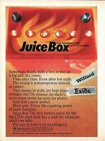 1970 ESB High Parformance Juice Box Battery Willard Exide Print Ad