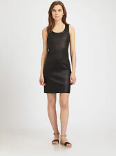 0005 NWT VINCE STRETCH LEATHER SLEEVELESS WOMEN DRESS SIZE 2 $1,250