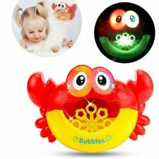 Crab Bubble Maker Automated Spout Musical Bubble Machine Bath Kids Toy Gift