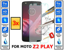 3x Genuine 100% TEMPERED GLASS Ultra HD Screen Protector Cover For Moto Z2 Play