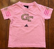 Adidas Georgia Tech Yellow Jackets Baby Girl Pink T-Shirt - SIZE 24 MONTHS