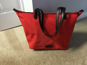 Radley London Nylon Tote Bag with Double Straps - Red, Packable