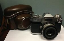 Vintage ZEISS IKON CONTAFLEX - COMPUR 35MM CAMERA, WITH TESSAR 1:2.8 50MM LENS