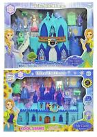 Frozen Elsa&Anna Princess Castle Light Up Musical Play Set ~ Perfect Xmas Gift